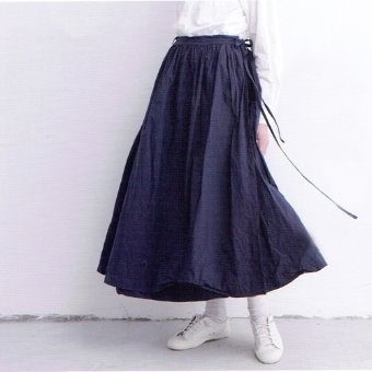 Gauze high count cotton warp gather skirt